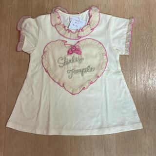 シャーリーテンプル(Shirley Temple)のシャーリーテンプル☆ハートフリルカットソー☆110(Tシャツ/カットソー)
