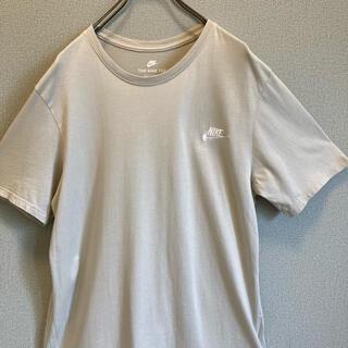 ナイキ(NIKE)の90s NIKE 刺繍ロゴ ベージュ tシャツ ゆるだぼ  vintage(Tシャツ(半袖/袖なし))