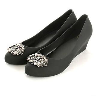 オリエンタルトラフィック(ORiental TRaffic)のレインパンプス 黒 randa  レインシューズ レインブーツ 23 23.5(レインブーツ/長靴)