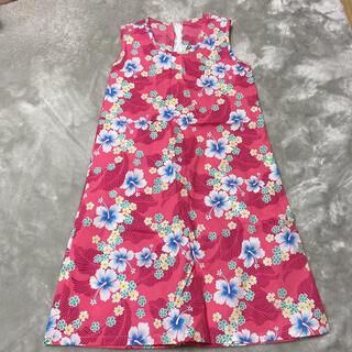 ハワイアンファッション  ピンクのワンピース(ワンピース)