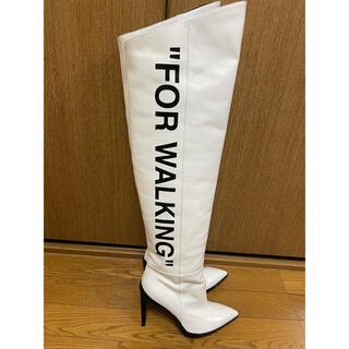 オフホワイト(OFF-WHITE)のoff-white オフホワイト ロングブーツ(ブーツ)