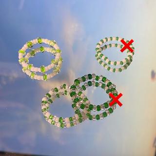 ジュエティ(jouetie)の:) beads / green(リング)