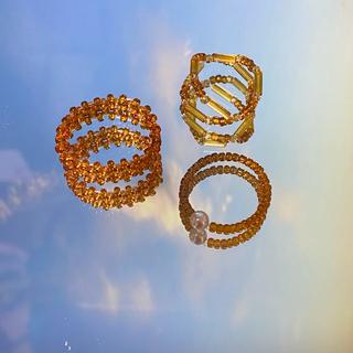 ビームス(BEAMS)の:) beads / brown(リング)