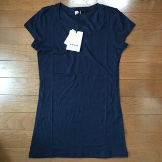プラステ(PLST)のPLST プラステ 新品 半袖Tシャツ ネイビー サイズM(Tシャツ(半袖/袖なし))