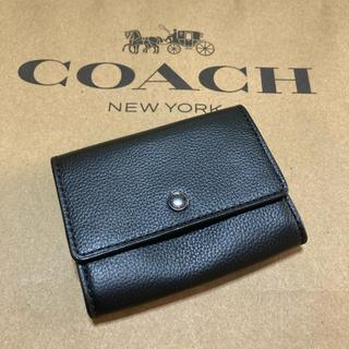 コーチ(COACH)のメンズ 父の日 新品 コーチ ブラック シンプル(コインケース/小銭入れ)
