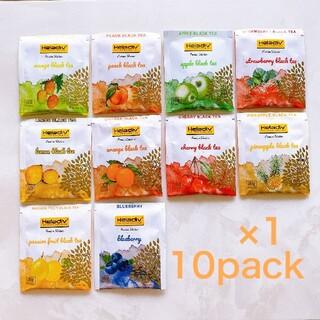Heladiv 10P 紅茶 フレーバー アソート ティーバッグ 果物 食品(茶)