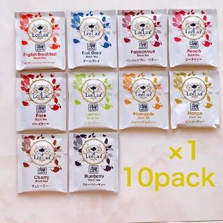 LeeLaa  10P 紅茶 フレーバー アソート ティーバッグ フルーツ 果物(茶)