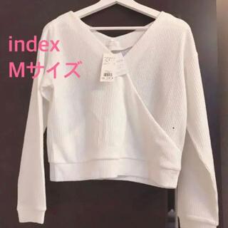 インデックス(INDEX)の【新品・未使用】インデックスの長袖トップス(カットソー(長袖/七分))