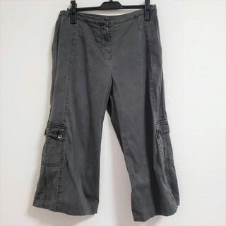 センソユニコ(Sensounico)のUSEDセンソユニコほんのり裾広がりシンプル無地カーゴデザインクロップド丈パンツ(カジュアルパンツ)