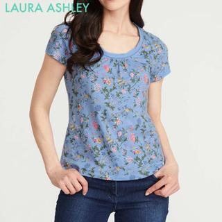 ローラアシュレイ(LAURA ASHLEY)のサマーパレスtシャツトップス UK12(11号相当)ローラアシュレイ  (Tシャツ(半袖/袖なし))