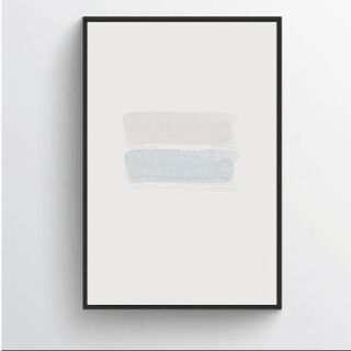 【アートポスター】ニュアンス ブルー 抽象画 選べるサイズ おしゃれ(アート/写真)
