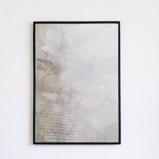 【アートポスター】ニュアンス グレー コラージュ 抽象画 選べるサイズ おしゃれ(アート/写真)