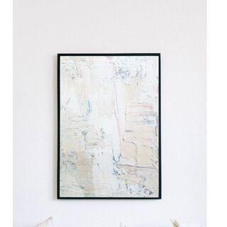 【アートポスター】ニュアンス グレー 壁画 抽象画 選べるサイズ おしゃれ(アート/写真)