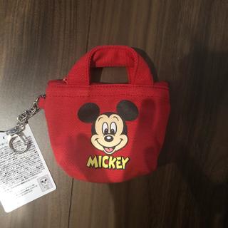 ミッキーマウス(ミッキーマウス)の新品未使用 ディズニー ミッキー ミッキーマウス ミニバッグポーチ キーホルダー(ポーチ)