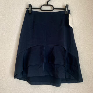 ノーブル(Noble)のNOBLE  フレアスカート フリル ネイビー   34(ひざ丈スカート)