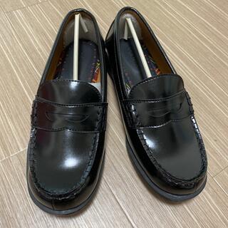 【新品】24.5 ローファー  黒(ローファー/革靴)