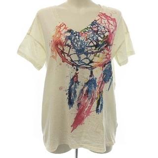 デニムアンドサプライラルフローレン(Denim & Supply Ralph Lauren)のデニム&サプライ ラルフローレン Tシャツ Vネック 半袖 プリント XS 白(Tシャツ(半袖/袖なし))