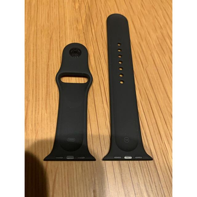 Hermes(エルメス)のApple Watch HERMESスポーツバンド 44mm ブラック メンズの時計(ラバーベルト)の商品写真