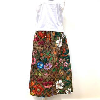 グッチ(Gucci)のグッチ フローラルスカート GG柄 609954 Mサイズ(ロングスカート)