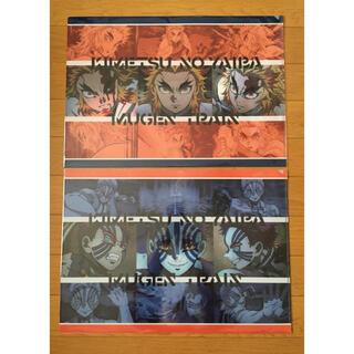 鬼滅の刃 無限列車編 ランチョンマットケース 2枚セット 煉獄杏寿郎 猗窩座(クリアファイル)