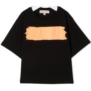 エミリオプッチ(EMILIO PUCCI)の【新作】エミリオプッチ ロゴTシャツ ブラック 14(Tシャツ(半袖/袖なし))
