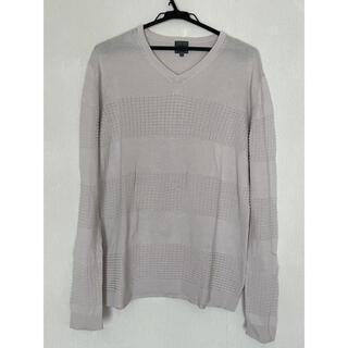 シーケーカルバンクライン(ck Calvin Klein)のCalvin Klein カルバンクライン 薄手ボーダーニット 長袖カットソー(Tシャツ/カットソー(七分/長袖))