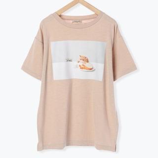 サマンサモスモス(SM2)の【ねこねこ食パン】フォトプリント半袖Tシャツ ベージュ(Tシャツ(半袖/袖なし))