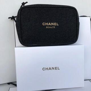 シャネル(CHANEL)のシャネル 2020ホリデー限定 ノベルティ ポーチ ブラック 箱付き正規品(ポーチ)