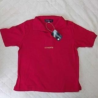ヴァレンティノ(VALENTINO)のUGO  VALENTINOポロシャツレディースサイズLレッド(Tシャツ(半袖/袖なし))