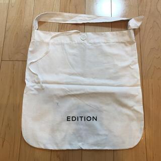 【新品】EDITION トートバッグ エコバッグ ホワイト ショルダー ロゴ