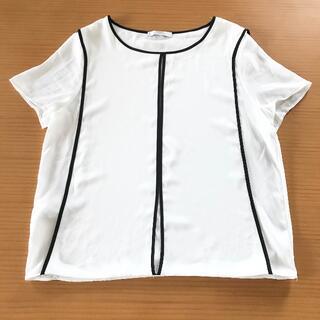 マンゴ(MANGO)の透けない白【匿名送込】MANGO フランス購入品(カットソー(半袖/袖なし))