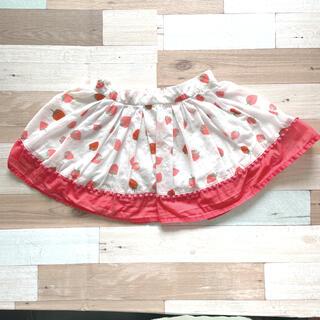 ケイトスペードニューヨーク(kate spade new york)のケイトスペードニューヨーク キッズ スカート 80cm 苺柄 イチゴ柄(スカート)