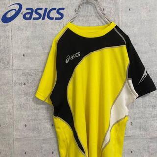 アシックス(asics)のアシックス asics Tシャツ 半袖 黄色 イエロー サッカー フットサル M(その他)