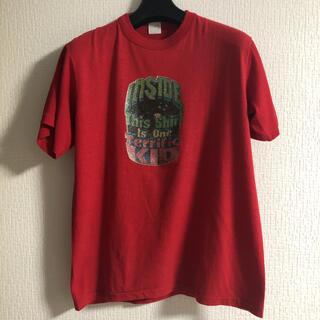 80's Vintage Tシャツ 赤 レッド ラメ コットン ポリエステル(Tシャツ/カットソー(半袖/袖なし))
