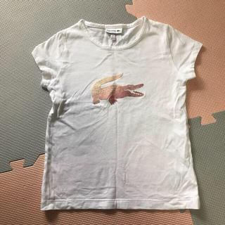 ラコステ(LACOSTE)のUSED☆ラコステ キッズ☆フロッキープリント デカワニTシャツ☆6Y 120(Tシャツ/カットソー)