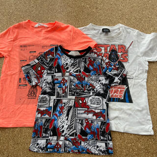 エイチアンドエム(H&M)の男の子用Tシャツ110、ダースベイダーとスパイダーマン(Tシャツ/カットソー)