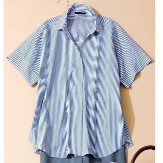 バンヤードストーム(BARNYARDSTORM)のストライプ半袖シャツ オーバーサイズ(シャツ/ブラウス(半袖/袖なし))