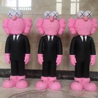 メディコムトイ(MEDICOM TOY)の3個KAWS BFF Open Edition Vinyl Paint Pink(ぬいぐるみ)