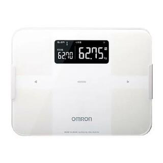 オムロン(OMRON)の新品未開封 メーカー保証1年 即納  OMRON HBF-255T-W 体重計(体重計/体脂肪計)