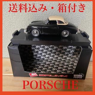 ポルシェ(Porsche)の【箱付き】ミニカー ポルシェ 356 白黒(ミニカー)