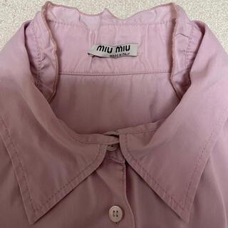 ミュウミュウ(miumiu)のmiumiu ピンクフリルシャツ(Tシャツ(長袖/七分))