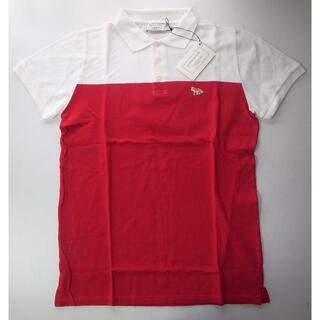 メゾンキツネ(MAISON KITSUNE')のmaison kitsune キツネ ポロシャツ white red sizeS(ポロシャツ)