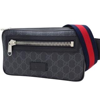 グッチ(Gucci)のグッチボディバッグ ベルトバッグ 黒 グレー灰 赤 紺 40800074289(ボディーバッグ)