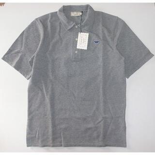 メゾンキツネ(MAISON KITSUNE')のmaison kitsune キツネ navy fox ポロシャツ sizeL (ポロシャツ)