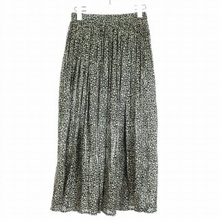 エニィファム(anyFAM)のエニィファム anyFam 20AW ギャザースカート フレア 1 S 黒 白(ロングスカート)