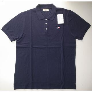 メゾンキツネ(MAISON KITSUNE')のmaison kitsune キツネ trico ポロシャツ navy XL(ポロシャツ)