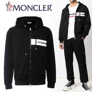モンクレール(MONCLER)の37 MONCLER ブラック フルジップ パーカー スウェット size XL(パーカー)