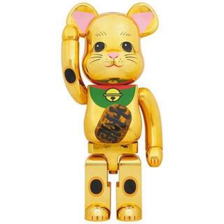 メディコムトイ(MEDICOM TOY)のBE@RBRICK 招き猫 金メッキ 発光 1000% manekineko(その他)