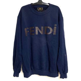 フェンディ(FENDI)のフェンディ FENDIロゴ スエット ネイビー ヴィンテージ (トレーナー/スウェット)