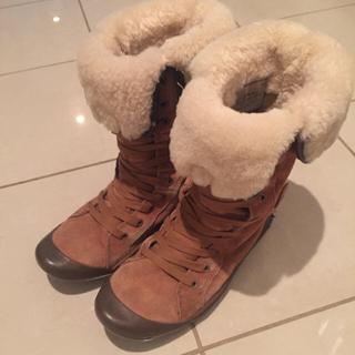 クッシーフットウェア(Cushe Footwear)のクッシー★ボア×スエード レースアップブーツ(ブーツ)